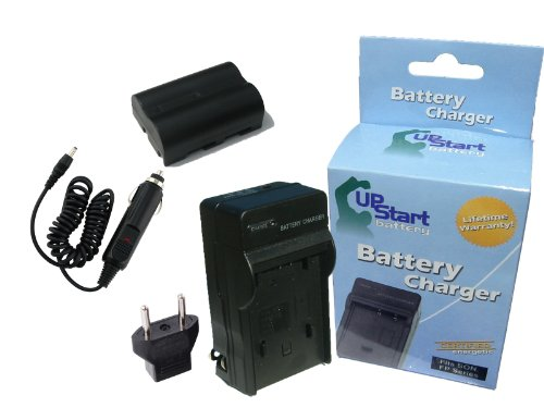 Replacement for Konica Minolta DiMAGE A2 Battery and Charger with Car Plug and EU Adapter - Compatible with Konica Minolta NP-400 Digital Camera Batteries and Chargers (1600mAh 7.4V Lithium-Ion) 400 Digital Camera Battery