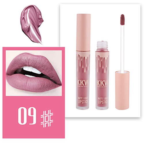 FORUU Women's Lipstick, 2019 Valentine's Day Surprise Best Gift For Girlfriend Lover Wife Party Under 5 Free delivery KKW Matte Sexy Liquid Lip Gloss Long Lasting Waterproof Keep 24 Hours