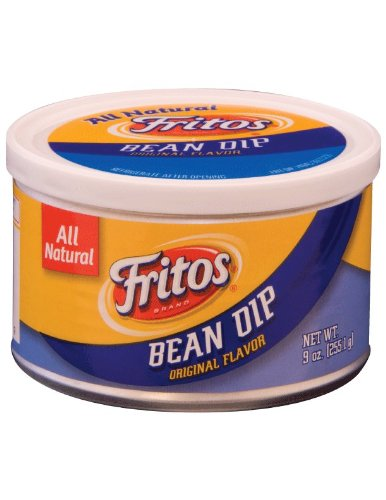 Dip Bean Fritos - Fritos, Bean Dip, Original Flavor, 9oz Canister (Pack of 3)
