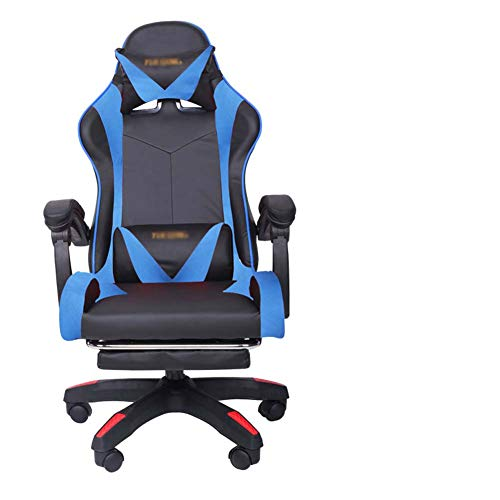 MKXF Red Chair Silla Inicio Gaming Net Silla de Oficina,Azul