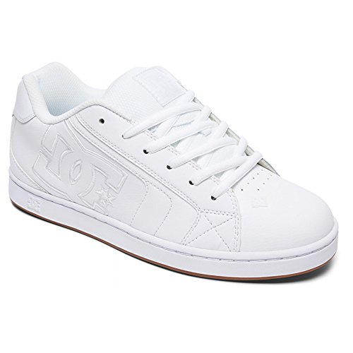 DC Men's NET Skate Shoe, White/Gum, 9.5 D D US