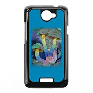 HTC One X Phone Case Covers Black MAGIC MUSHROOMS DFW Personalized Phone Case For Men