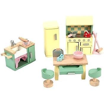 cheap wooden dollhouse furniture. Le Toy Van Dollhouse Furniture \u0026 Accessories, Daisylane Kitchen Set Cheap Wooden O