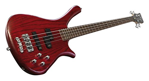 Warwick Rockbass Fortress Swamp Ash Electric Bass Guitar – Burgundy