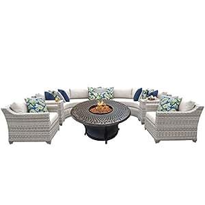 TK Classics Fairmont-08i 8 Piece Outdoor Wicker Patio Furniture Set