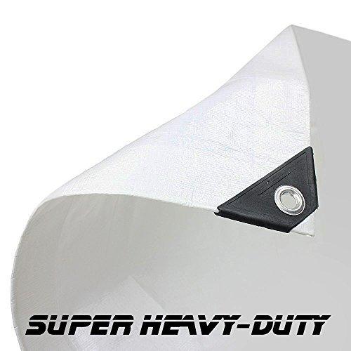 14' X 20' White Super Heavy Duty Tarp (13'6 X 19'6) by canopiesandtarps by canopiesandtarps