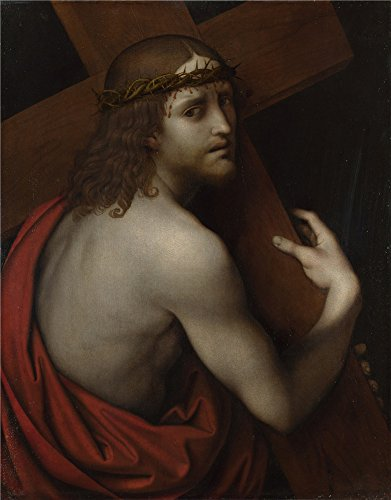 'Giampietrino Christ Carrying His Cross ' Oil Painting, 30 X 38 Inch / 76 X 98 Cm ,printed On Perfect Effect Canvas ,this High Resolution Art Decorative Prints On Canvas Is Perfectly Suitalbe For Study Decoration And Home Gallery Art And Gifts