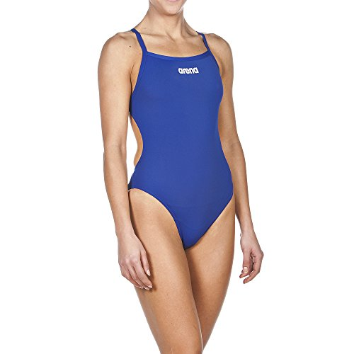 Arena Mujer Competición Solid Ligh ttech High–Bañador Danube Blue/White