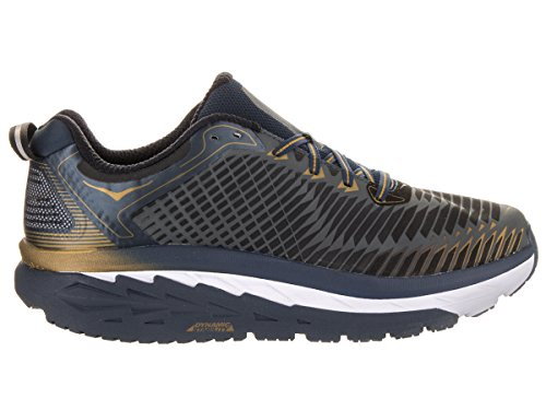 HOKA ONE ONE ARAHI MIDNIGHT NAVY ET METALLIC GOLD Chaussures de running