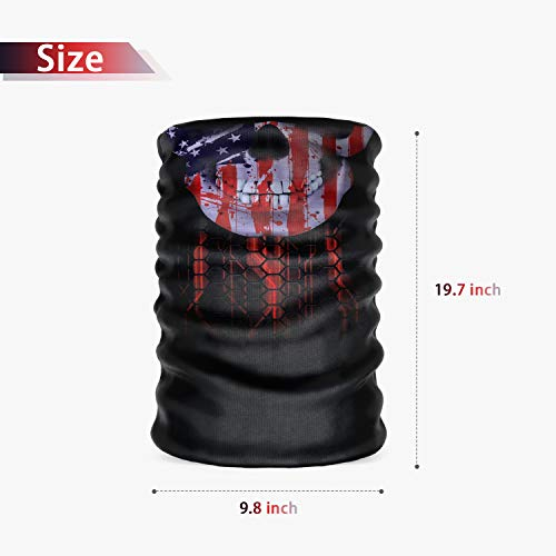 n a Seamless Face Cover Bandana Neck Gaiter Scarf Face Protection Magic Scarf Headwear for Outdoors, Festivals, Sports (Skull)
