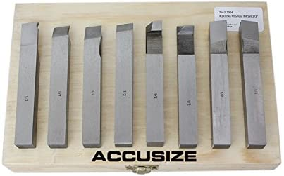 Bit Set 5//16 Inch 8 Pcs H.S.S AccusizeTools Pre-Ground For Turning /&