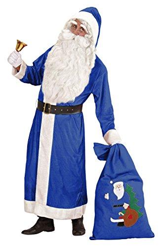 Adult Deluxe Blue Santa Coat -