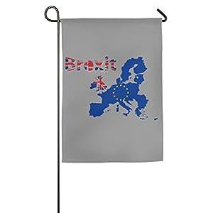 Brexit británico y Unión Europea Poliéster casa jardín bandera