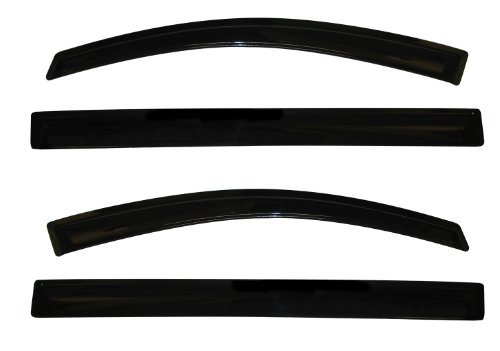 Auto Ventshade 94365 Original Ventvisor Side Window Deflector Dark Smoke, 4-Piece Set for 2011-2018 Toyota Sienna