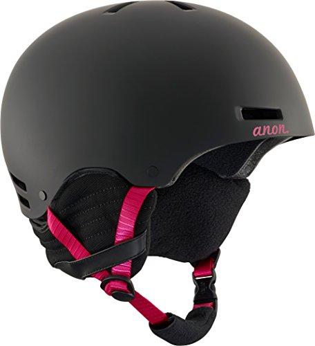 Anon Women's Greta Durable, Warm Ski Snow Helmet with Active Ventilation, Black Cherry, Small