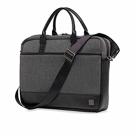 0d95c33e6534 Knomo Luggage Men's Princeton Briefcase, Grey, One Size