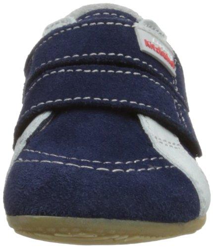 Living Kitzbühel Baby Doppelklettschuh Sterne - Zapatillas de casa Bebé-Niñas Azul (Blue)