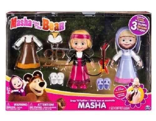 Conjunto De Bonecas - Masha E O Urso - Masha Com Roupinhas