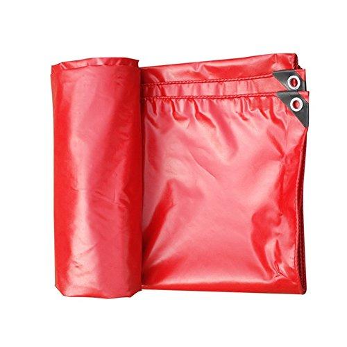 やりがいのあるクローンおとなしいCHAOXIANG オーニング 厚い 防水 耐寒性 アンチサン シェード 耐摩耗性 耐引裂性 耐食性 防風 防塵の PVC 赤、 530g/m 2、 厚さ 0.42mm、 13サイズ (色 : 赤, サイズ さいず : 3x5m)