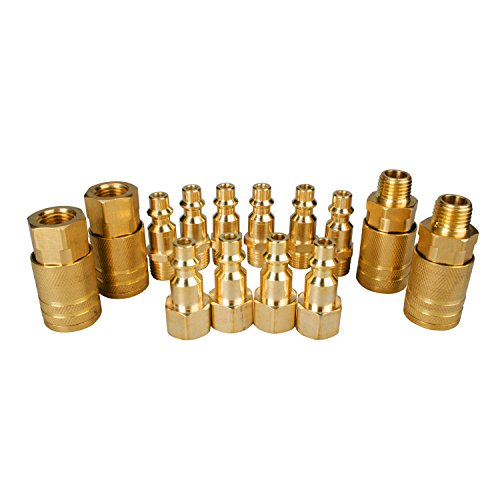 powryte-basic-14-piece-1-4-inch-industrial-solid-brass-quick-coupler-set
