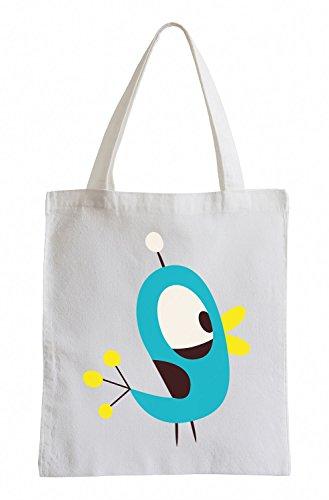 Raxxpurl Blue Bird Fun sacchetto di iuta