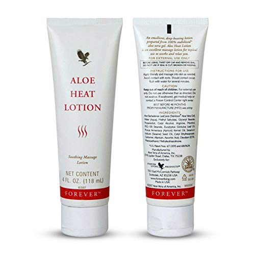 - Forever Living Aloe Heat Lotion 4oz (pack of 6)