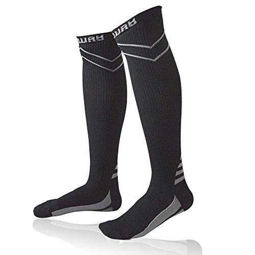 Sports Compression Socks Calf Support – Comway Knee High Athletic Socks for Men Women, Fit Running Flight Travel Nurses Boost Performance Blood Circulation & Recovery (L, (Advantage Comprehensive Coverage)