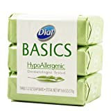 Dial Basics Hypoallergenic Bar Soap 3.2 Oz - 3 Pack