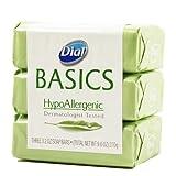 Dial Basics Hypoallergenic Bar Soap 3.2 Oz - 3 Pack