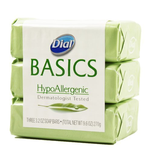 Dial Basics Hypoallergenic Bar Soap 3.2 Oz - 3 Pack (Dial Basics Hand Soap compare prices)
