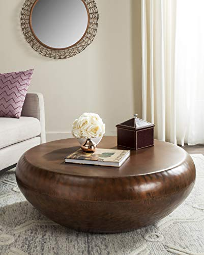Safavieh Home Collection Patience Copper Coffee Table (Table Round Copper Top)