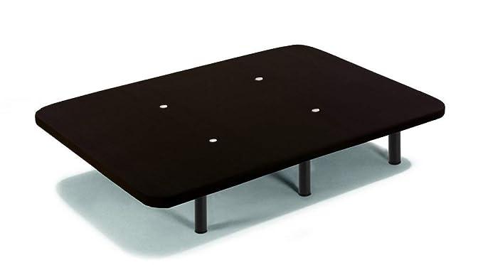 HOGAR24 ES Base tapizada con Tejido 3D Negro y válvulas de transpiración + 6 Patas de Metal Roscadas de 32cm-90x190cm: Amazon.es: Hogar