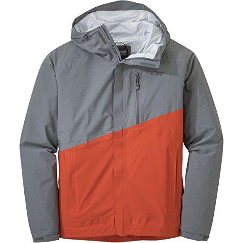 Outdoor Research Men's Panorama Point Jacket, Charcoal Heather/Diablo, Medium -
