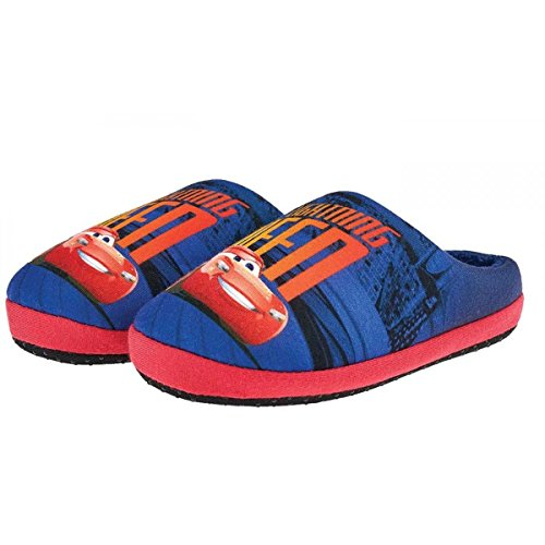 Cars - Zapatillas de Estar Por Casa de 100 % poliéster Unisex Niños azul / rojo