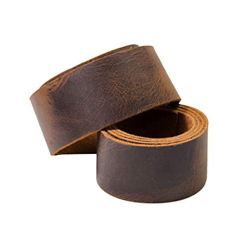 1.5 Inch Leather - Hide & Drink, Leather Strong Strap 1.5 inches Wide, Cord Braiding String, Medium Weight (1.8mm Thick) 60 inches Long for Crafts/Tooling/Workshop :: Bourbon Brown