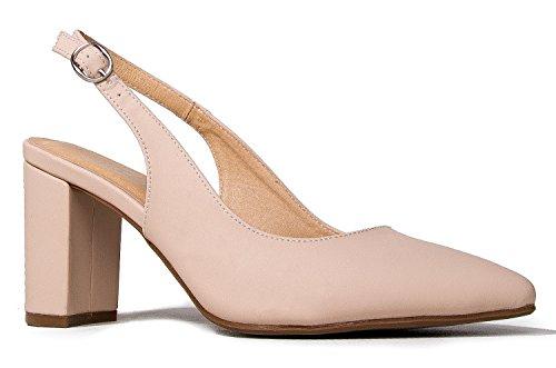 J. Adams Peyton Heeled Sandals - Pointed Toe Slingback Low Block Heel (Pointed Toe Slingback Heels)
