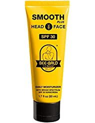 Bee Bald Smooth Plus Daily Moisturizer with SPF 30 Broad Spectrum Sunscreen