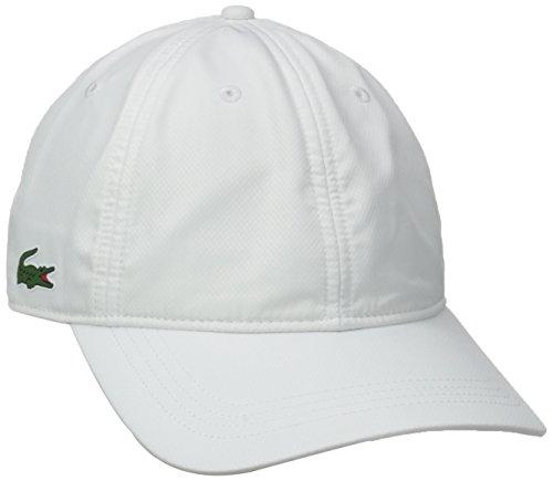Diamond Black Croc Leather - Lacoste Men's Sport Taffeta Cap, White, One Size
