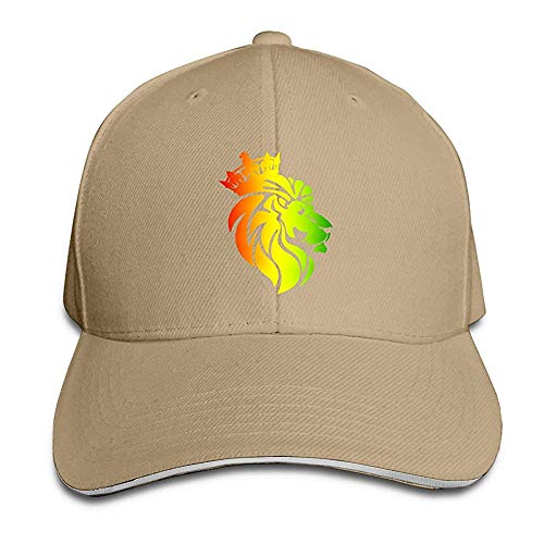 HONGANY Adult Baseball Caps Rasta Lion Crown Custom Adjustable Sandwich Cap Casquette Hats