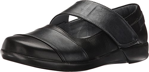 Naot Footwear Women's Art Black/Armor Combo Flat 36 (US Women's 5) (Armor Footwear)