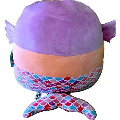 Squishmallows~ Soft Plush Character Pillow (Denise Mermaid 16): Home & Kitchen