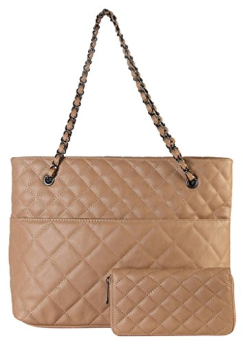 Quilted Two Pocket Tote - 4