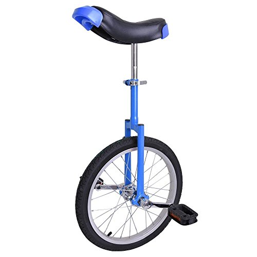 GHP Blue Manganese Steel 18'' Wheel Skid-Proof Tire Aluminum Alloy Rim Unicycle by Globe House Products
