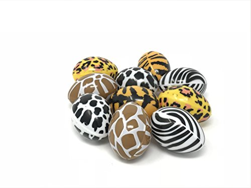 Easter Eggs, Assembled Eggs, 10 count, 2.5 inches (Animal (10k Print)