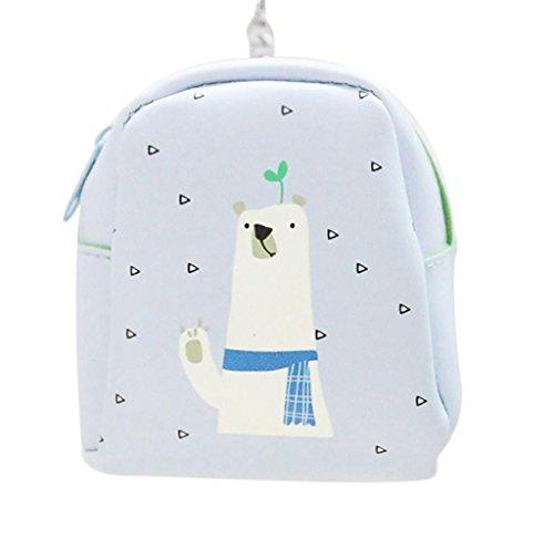 Cartera de Cuero Llavero, Holacha Mini Monodero Clutch Forma de Mochila Backpack Lindo para Mujeres Chicas I