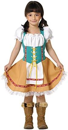 Disfraz tirolesa niña. Talla 5/6 años.: Amazon.es: Juguetes y juegos