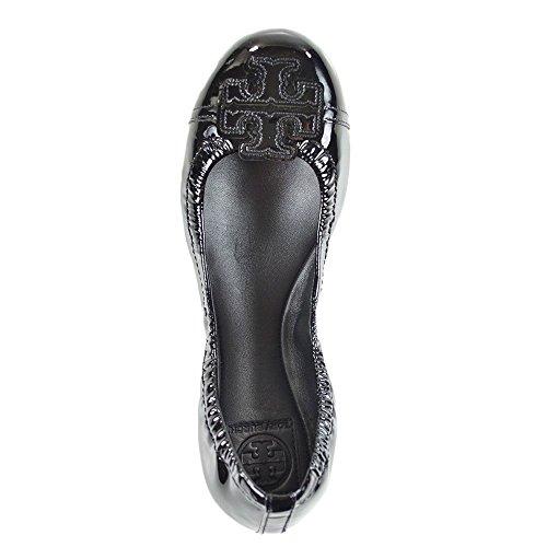 Tory Burch Carita Ballet Patent Patent Carita Flat Burch Shoes Leather Black Tory Flat Shoes Black Leather Ballet xnAHRI0q