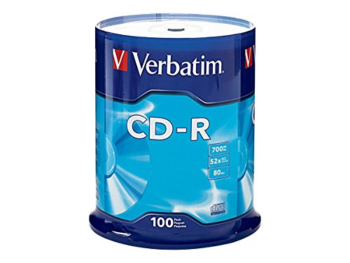 Verbatim CD-R 700MB 80 Minute 52x Recordable Disc - 100 Pack - Outlets Prime Drive International