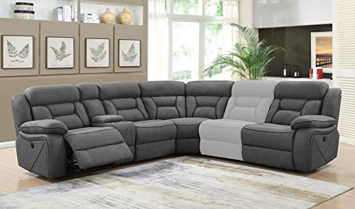 Coaster Home Furnishings Reclining Power Sectional Sofa in ()