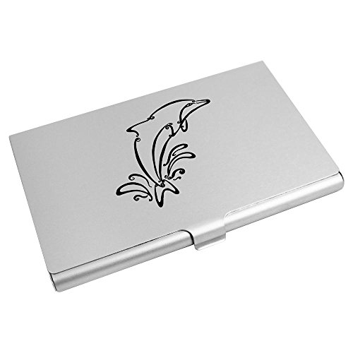 Credit Business Card Wallet Holder Card Azeeda CH00008372 Dolphin' 'Swirled H1fwXqnRx